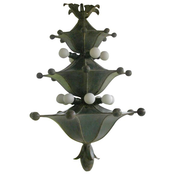 beaded kitchen cabinets whimsical iron chandelier at 1stdibs 11932