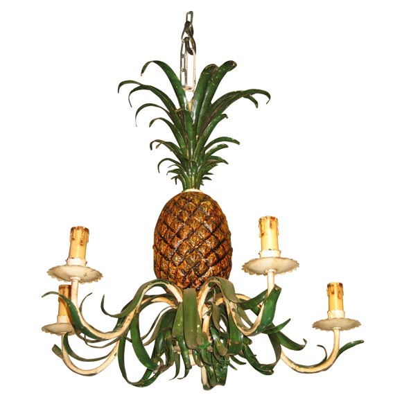 Brass Pineapple Table Lamp 1950s Small Pineapple Chandelier at 1stdibs