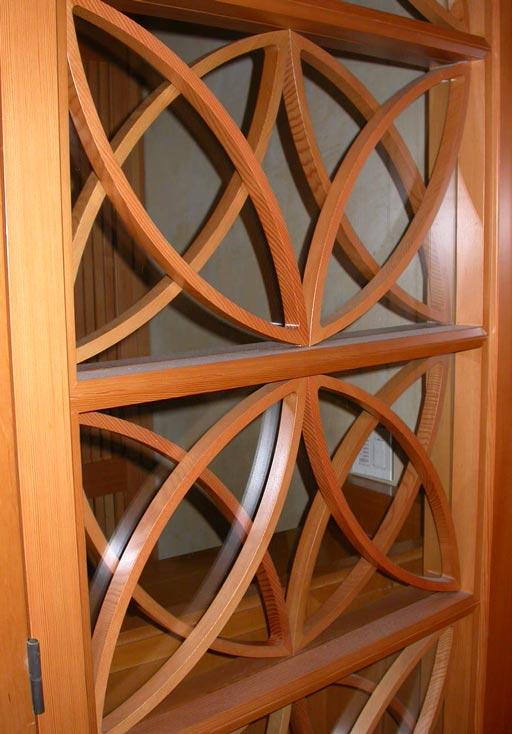 Decorative Glass Bifold Doors : Pair of custom bi fold doors w decorative glass panells at