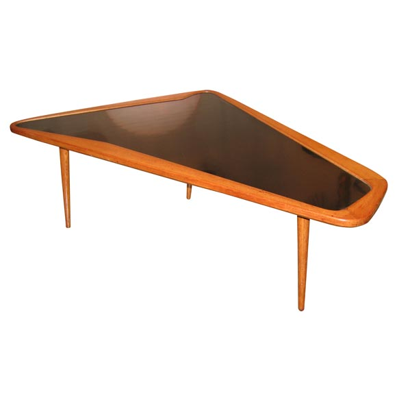 Wedge Shaped Coffee Table By Ramos At 1stdibs