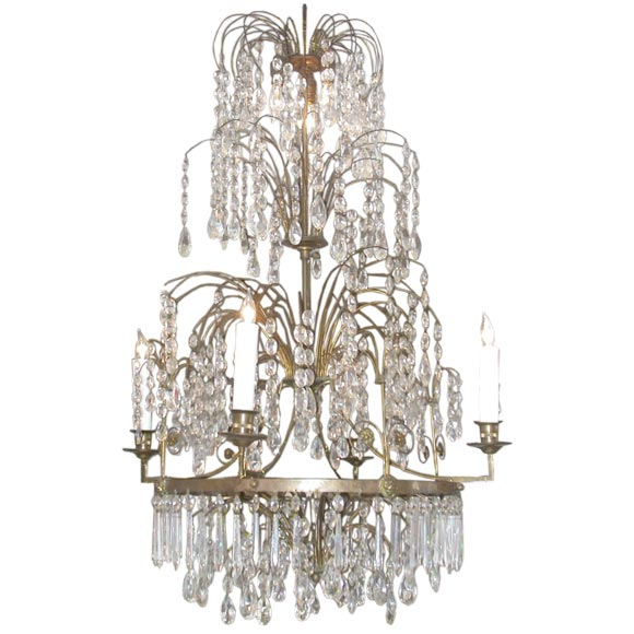 19th Century Swedish Neoclassical 8 Lite Chandelier At 1stdibs