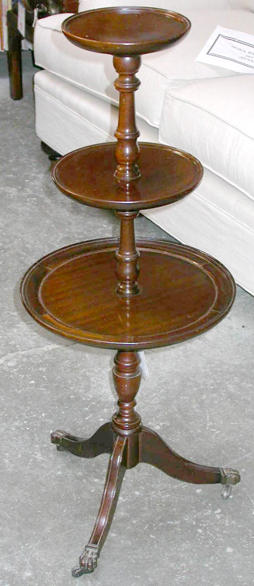 Mahogany tier dumbwaiter table at stdibs