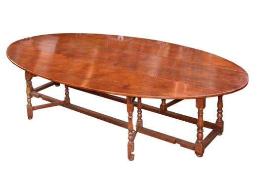Oval gateleg dining table for sale at 1stdibs for Gateleg dining table