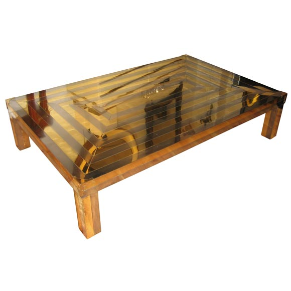 Two Toned Metal Coffee Table By Alberto Pinto At 1stdibs