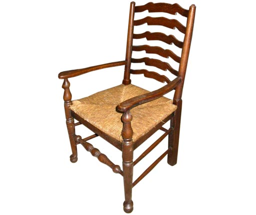 Ladderback Dining Chairs With Rush Seats At 1stdibs