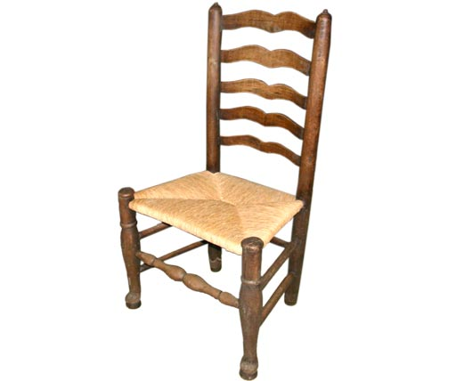 Oak Ladderback Dining Chairs With Rush Seats At 1stdibs