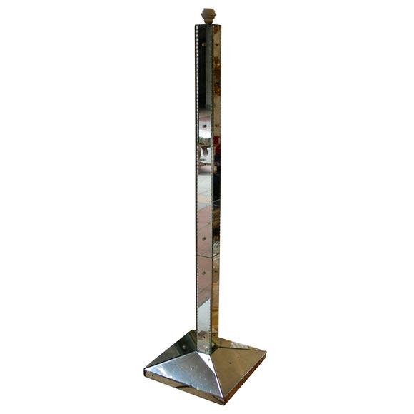 Mirrored Floor Lamp At 1stdibs