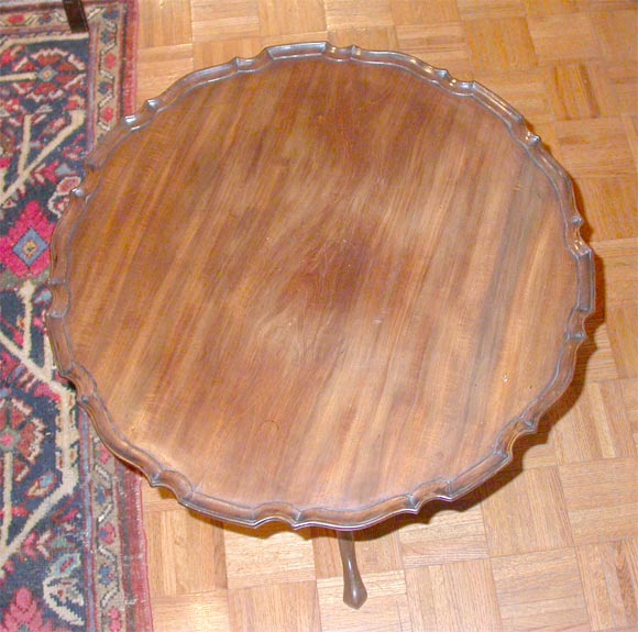 Georgian Mahogany Tilt Top Pie Crust  Table In Excellent Condition For Sale In New York, NY