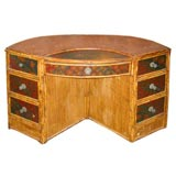 Unusual Shape Bamboo Dressing Table