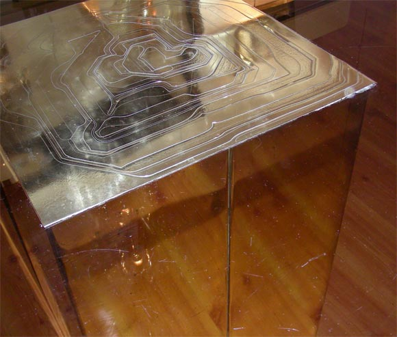 Smoked Glass And Bronze Table By Jenalzi For Sale At 1stdibs