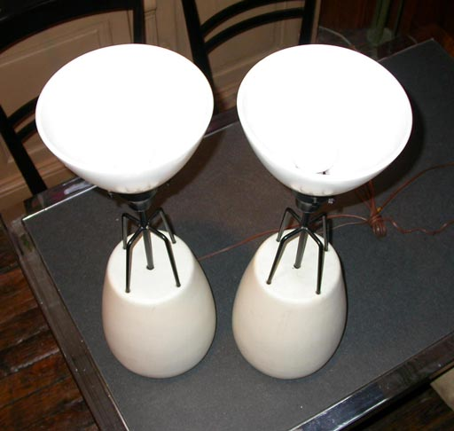 Pair of Porcelain Lamps by Raymor 4