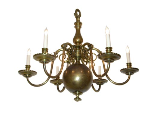 Six arm bronze chandelier at 1stdibs