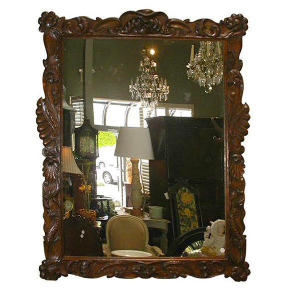 Large baroque mirror at 1stdibs for Small baroque mirror