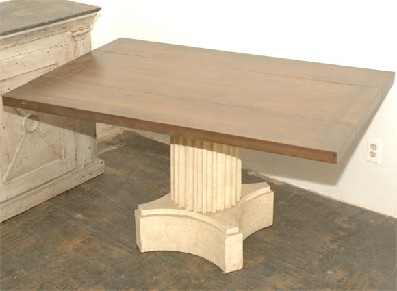 Large Neoclassical Dining Room Table Pair Of Consoles At 1stdibs