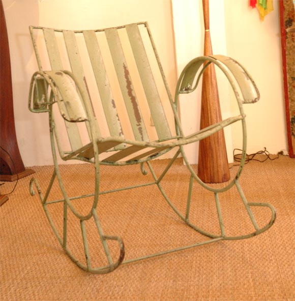 Metal rocking chair at 1stdibs
