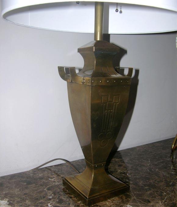 Austrian Pair of Classic Modern Jugendstil Table Lamps For Sale