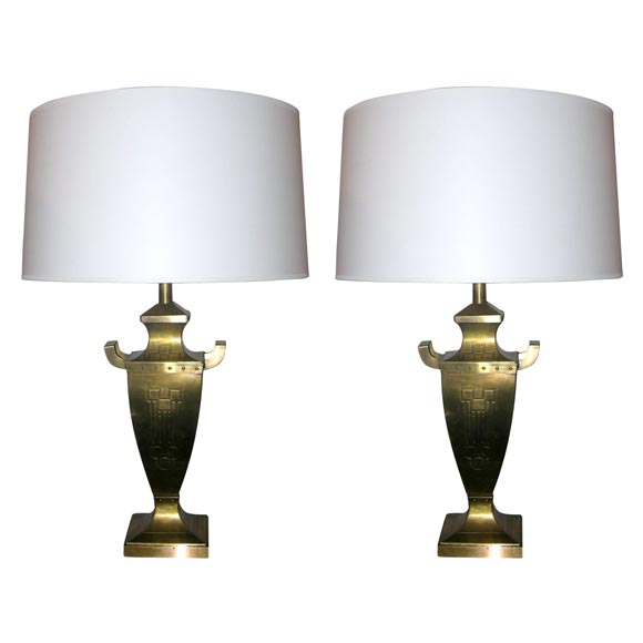 Pair of Classic Modern Jugendstil Table Lamps For Sale