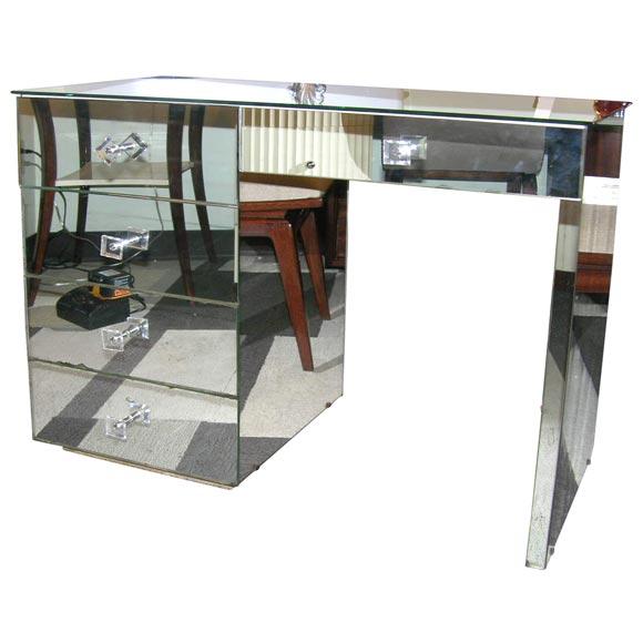 Genial 1940u0027s Mirrored Vanity / Writing Desk