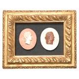 Italian Gilt Framed Intaglios, Circa 1820