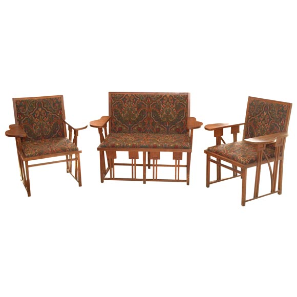 set of prairie style chairs and settee at 1stdibs