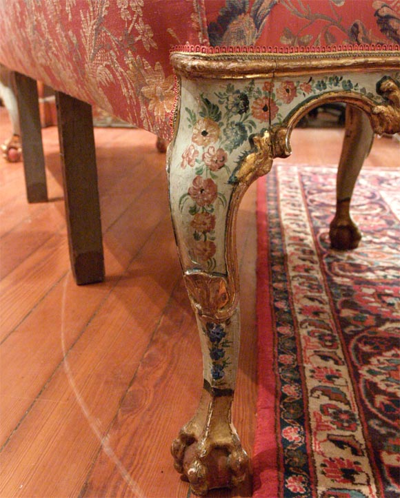 Wood 18th C. Venetian Painted Sofa For Sale