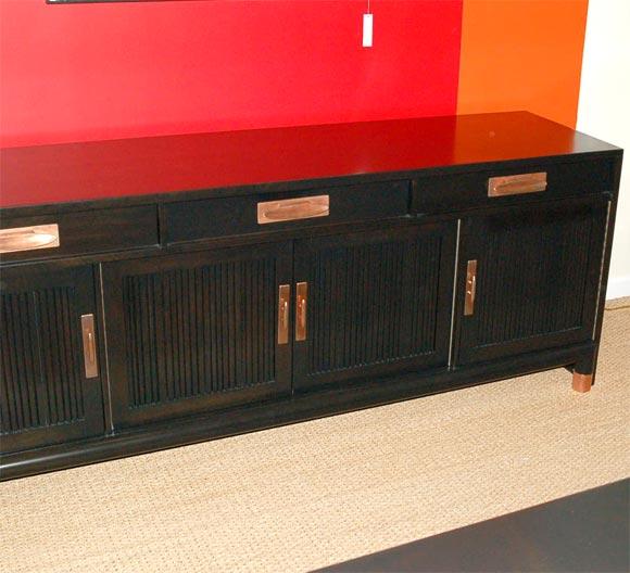 moderne ebonized sideboard at 1stdibs. Black Bedroom Furniture Sets. Home Design Ideas