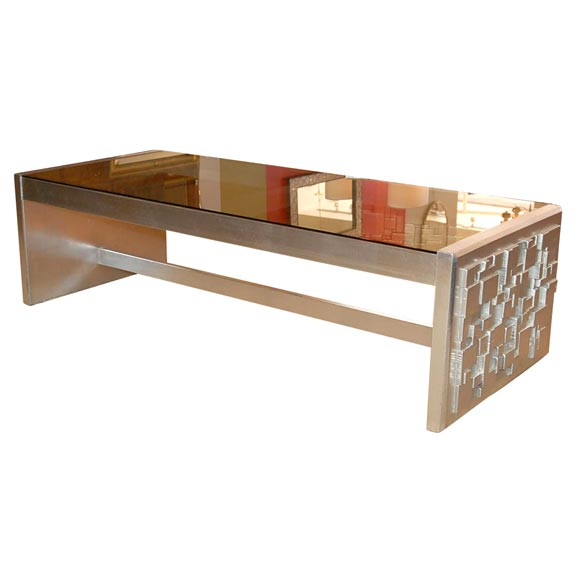 Chinese Relief Coffee Table: Cubist Relief Coffee Table At 1stdibs