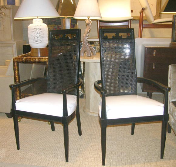 set of six asian style dining chairs at 1stdibs