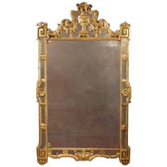 A Refined Louis XVI Gilt Mirror. Circa 1770