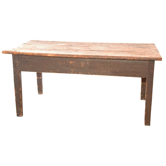 19thc Original Surface Farm Coffee Table With Great Natural Top At 1stdibs