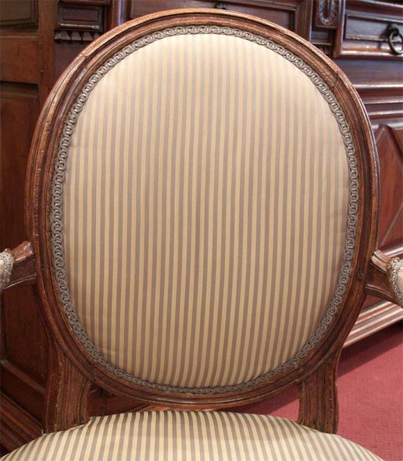 louis xvi period signed beechwood fauteuil at 1stdibs. Black Bedroom Furniture Sets. Home Design Ideas