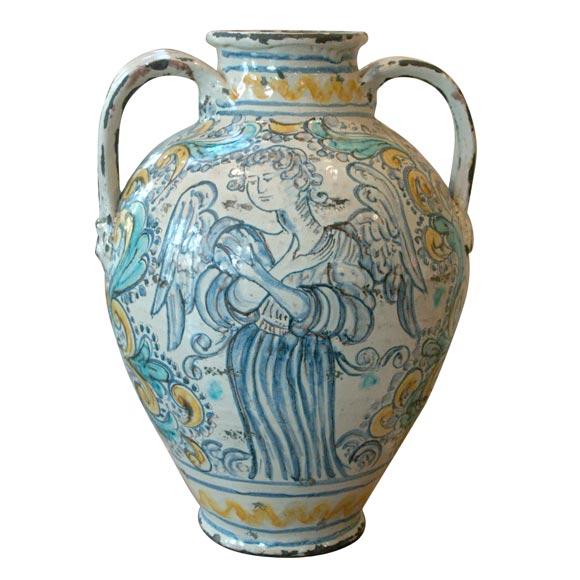Napoli 18th C Majolica Vase At 1stdibs