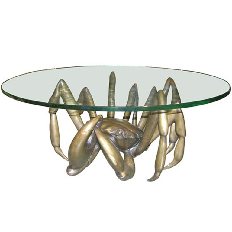 Bronze Woman Coffee Table: Giant Bronze Crab Table / Sculpture At 1stdibs