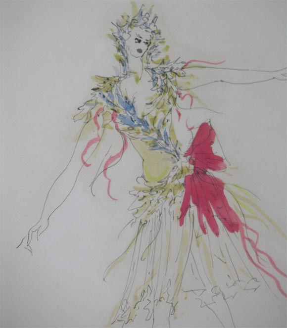 Fabrizio Clerici Costume Drawings In Good Condition For Sale In New York, NY