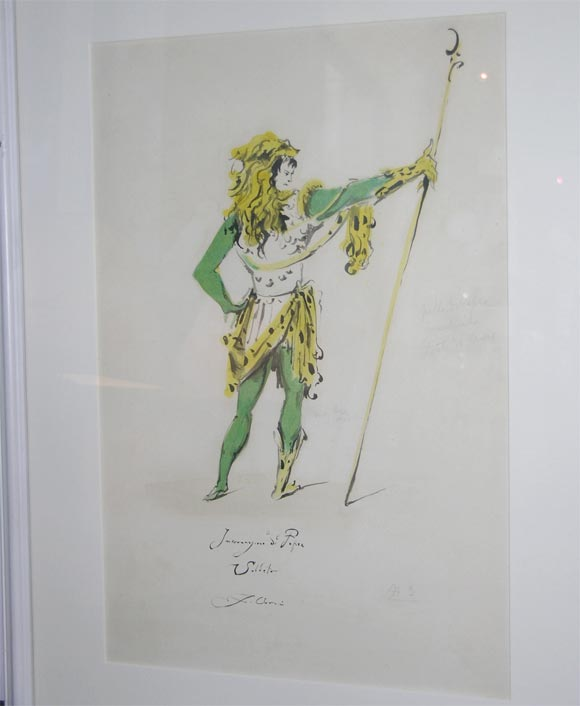 Wood Fabrizio Clerici Costume Drawings For Sale