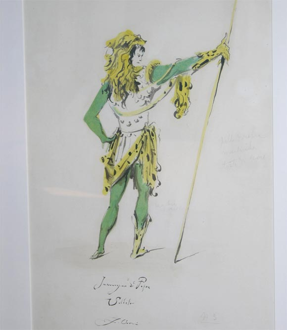 Fabrizio Clerici Costume Drawings For Sale 1
