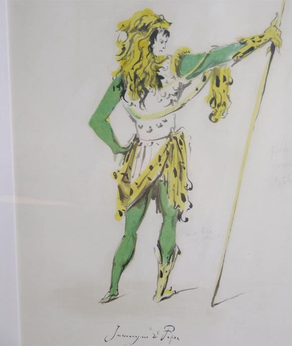 Fabrizio Clerici Costume Drawings For Sale 3