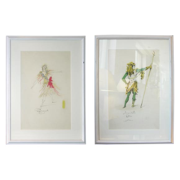 Fabrizio Clerici Costume Drawings For Sale