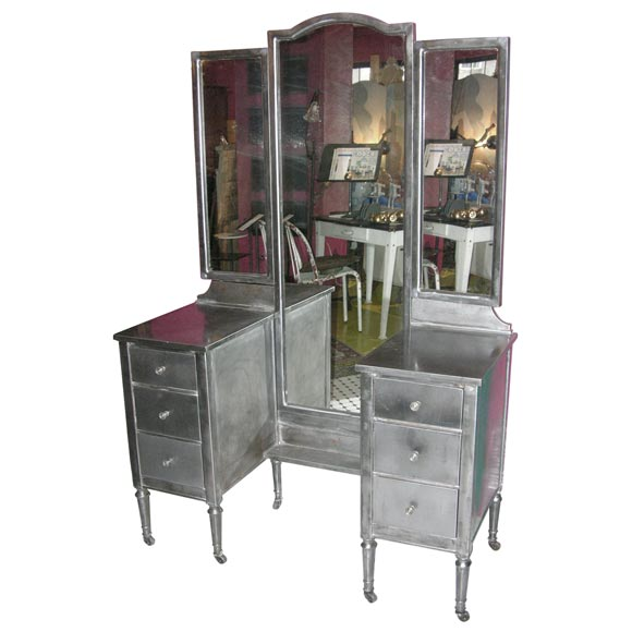 Industrial Vanity: French Industrial Metal Vanity At 1stdibs