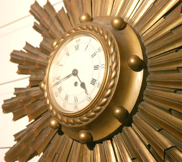 sunburst clock 3