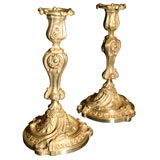 Rococo French Bronze Candlesticks