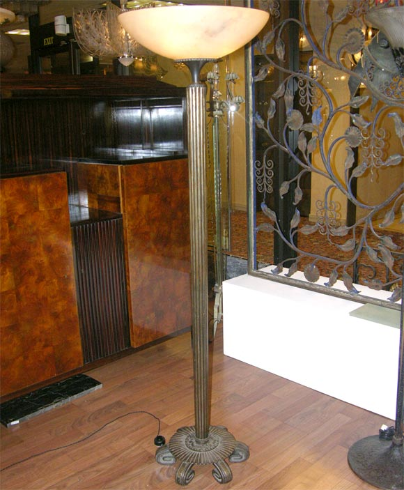 French Art Deco Torchere by Edgar Brandt For Sale 3