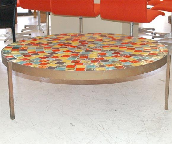 incredible tile top coffee table at 1stdibs