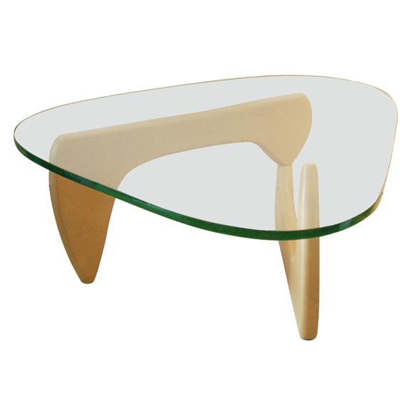 Early Noguchi Green Glass Coffe Table At 1stdibs