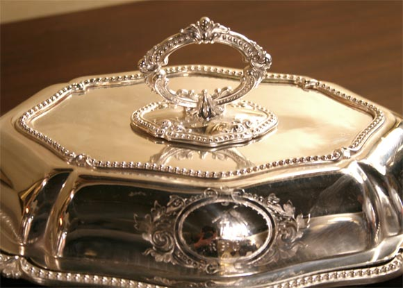 Silver Pair of Sheffield Serving Dishes For Sale