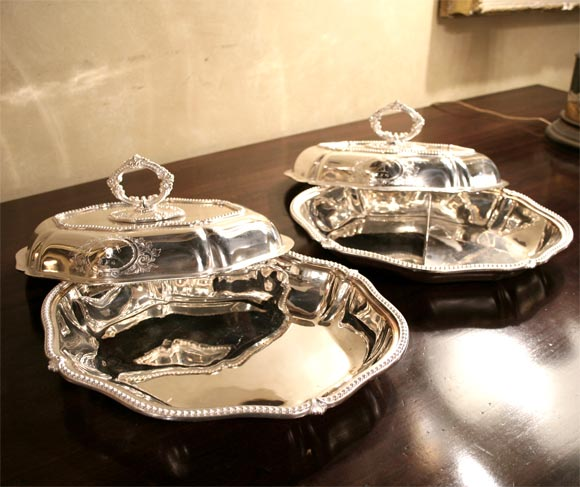 Pair of Sheffield Serving Dishes For Sale 3