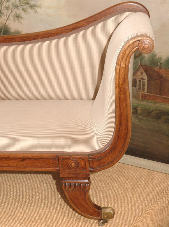 English mahogany chaise day bed at 1stdibs for Chaise longue in english