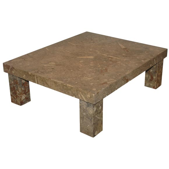 Fossil stone coffee table at 1stdibs for Fossil coffee table