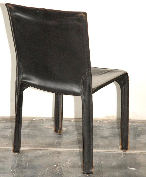 Set of four side chairs by mario bellini for b b italia at for B b italia dining room chairs