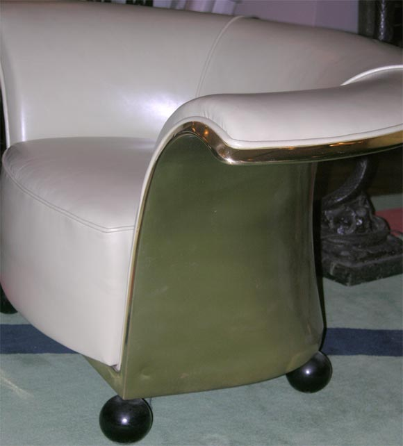 Pair of Spectacular French Art Deco Armchairs For Sale 3